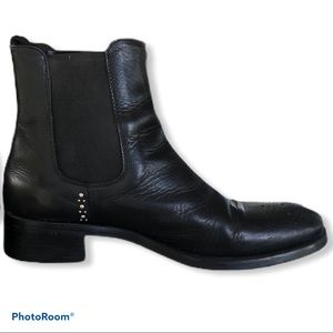 BOEMOS leather studded Chelsea ankle boots